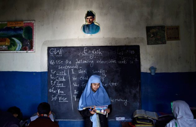 English lesson at a school in Pakistan