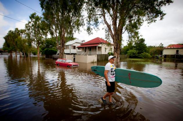 TOPSHOTS-AUSTRALIA-WEATHER-FLOODS
