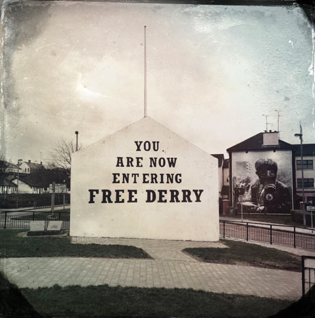 The most famous mural in the Bogside simply states 'You Are Now Entering Free Derry'