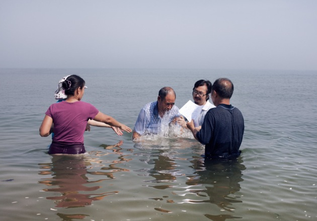 Baptism, Yantai, China 2012