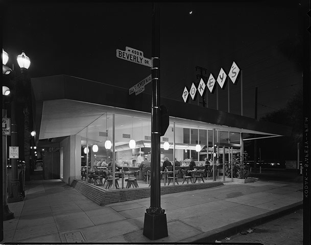 Pokey's Restaurant, Beverly Drive at Santa Monica Blvd, Los Angeles, 1955.