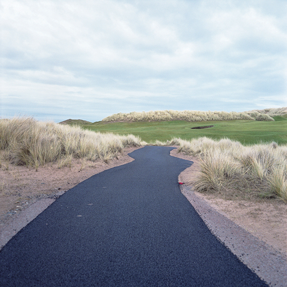 Tarmac path, Trump International Golf Links, Menie, Aberdeenshire, Scotland.