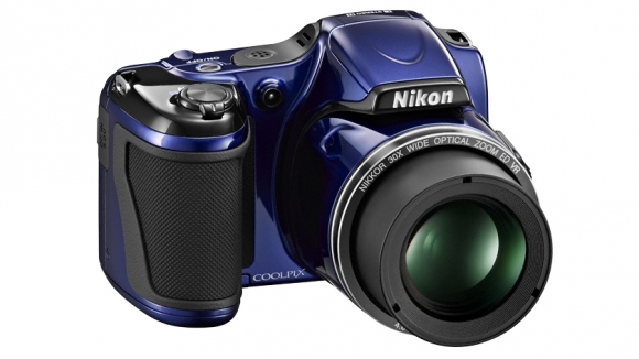 Nikon Coolpix L820 blue angle right small zoom-580-100