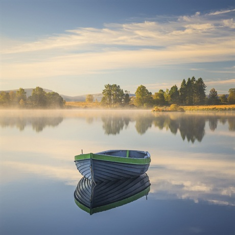 David Mould, 'Autumn Morning Light' Loch  Rusky, Perthshire, Your View