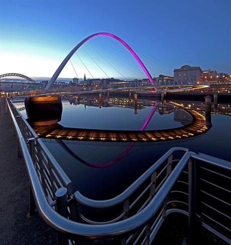 Graeme Peacock, 'Gateshead Millennium Bridge', Gateshead, Tyne and Wear, Urban View