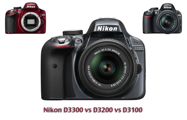 Nikon_D3300_vs_D3200_vs_D3100
