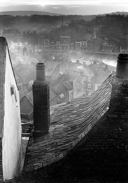Roofscape, Whitby, North Yorkshire. (c) Edwin Smith, RIBA Librar