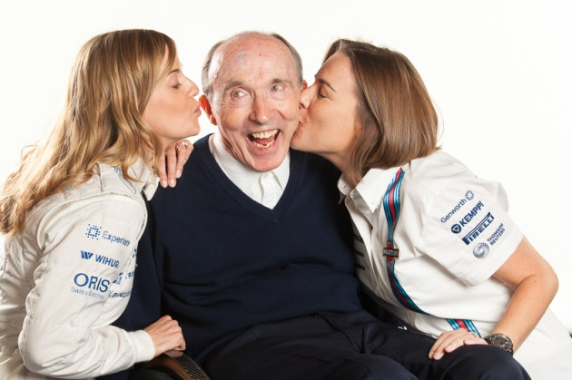 Susie Wolff.Frank Williams.Clare Williams