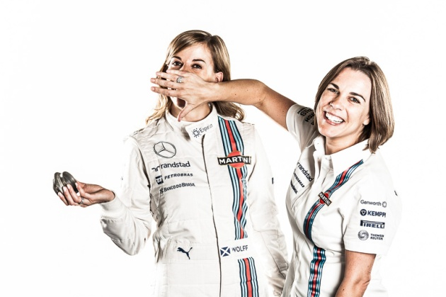 Susie Wolff.Clare Williams