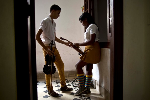 """APTOPIX Cuba Violins Photo Gallery"""