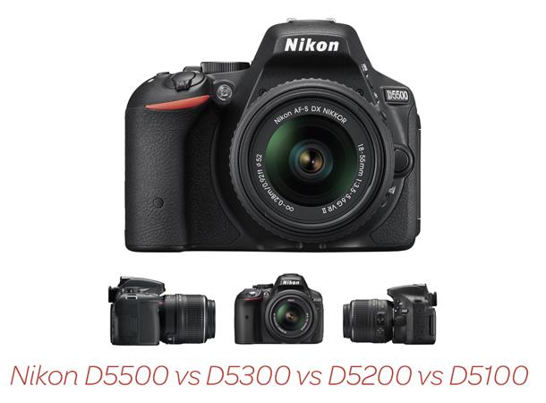Nikon_D5500_vs_D5300_vs_D5200_vs_D5100