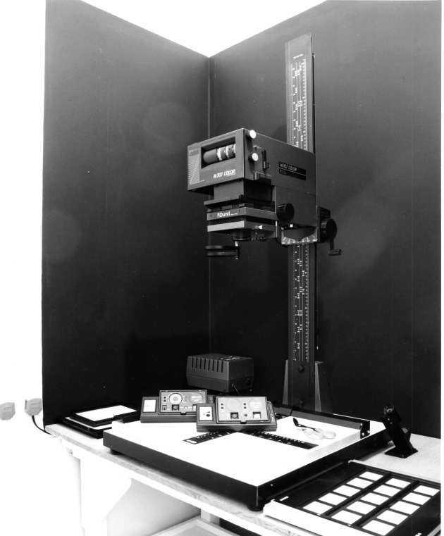 enlarger, black and white darkroom, Photographers Workshop, 1982