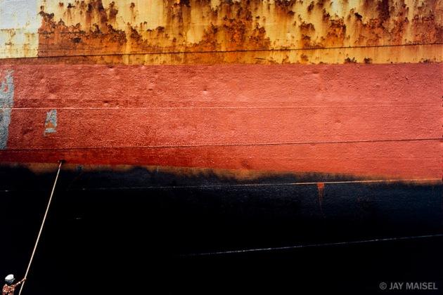 Man Painting Ship