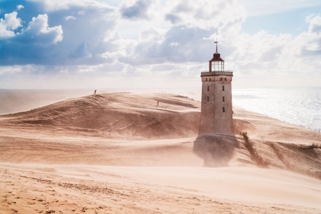 Rubjerg Knude lighthouse, northern Jutland, Denmark This lighthouse was built on the top of a cliff in 1900 and ceased operating in 1968. With coastal erosion and continually shifting sands a major problem in the area, it is anticipated that by 2023 the cliff will have been eroded so far that the lighthouse will fall into the sea. Photograph: Elisabeth Coelfen/Dreamstime