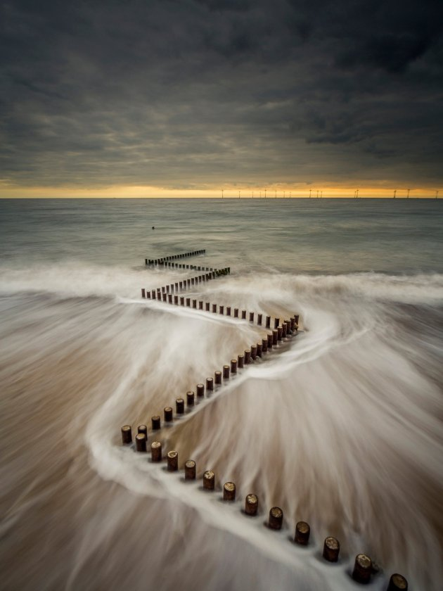 Damian Ward Caister-on-Sea, taken at the town in Norfolk, won the Adobe prize Photograph: Damian Ward/PA