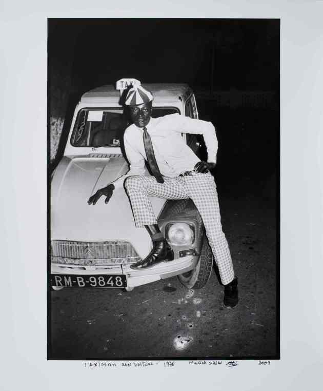 Taximan avec voiture. Photograph: Malick Sidibé/Jack Shainman Gallery, New York