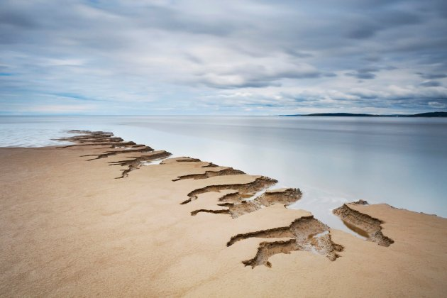 Tony Higginson Shifting Sands, taken in Silverdale, Lancashire, which won the Your View award Photograph: Tony Higginson/PA