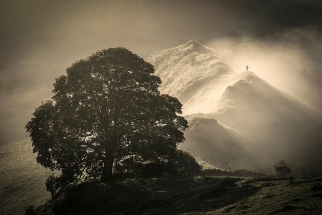 Martin Birks Chrome Hill, taken in the Peak District, Derbyshire, won the Living the View award Photograph: Martin Birks/PA