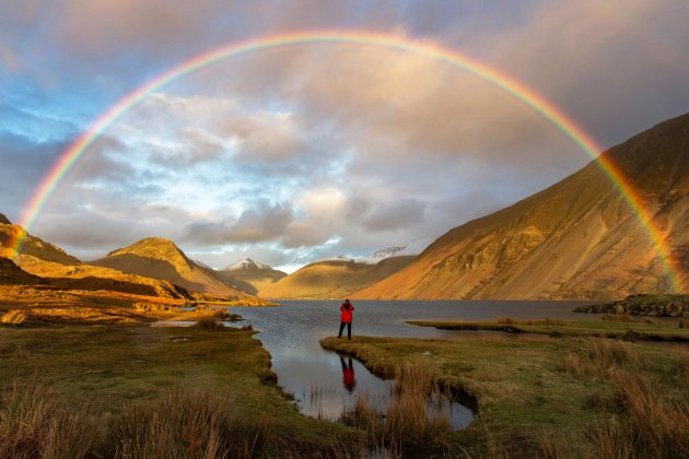 Mark Gilligan Finding Gold, taken in Wast Water in Cumbria, which won the Great Britain #OMGB 'Home of Amazing Moments' award Photograph: Mark Gilligan/PA