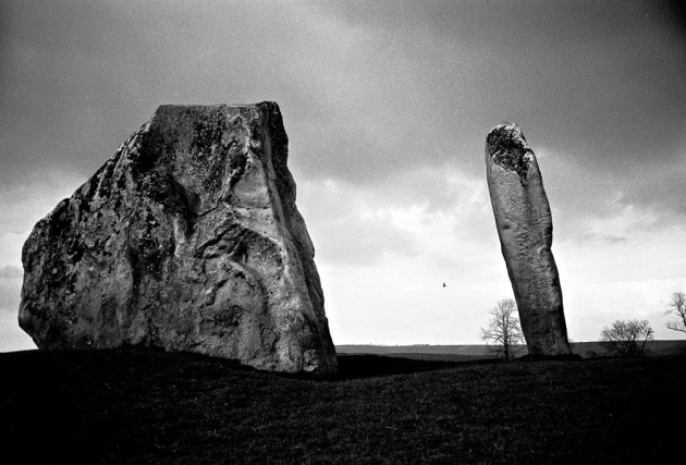 Standing stones at Avebury, Wiltshire UK by Keith Barnes