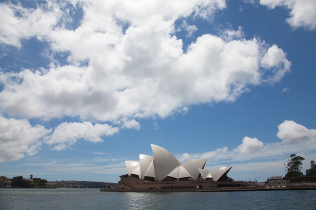 Clouds above Sydney Opera House